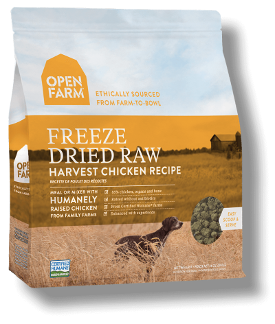Open Farms Freeze Dried Dog Food - Harvest Chicken - Grain Free - for All Life Stages