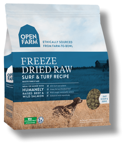 Open Farms Freeze Dried Dog Food - Surf and Turf - Grain Free - for All Life Stages