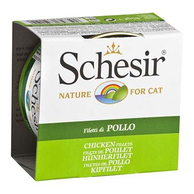 Schesir Chicken Fillet Canned Cat Food in Jelly