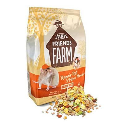 Supreme Tiny Friends Farm Reggie Rat and Mimi Mouse Tasty Mix Rat and Mouse Food