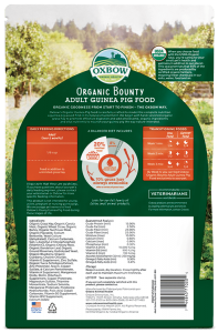 Buy Oxbow Organic Bounty Adult Guinea Pig Food online at Canadian Pet Connection
