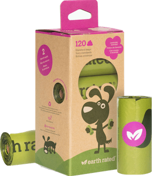 EARTH RATED Poop Bags 120 Count Refill Rolls – Lavender Scented