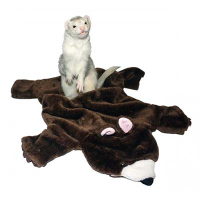 Marshall Bear Rug Ferret Toy and Bed