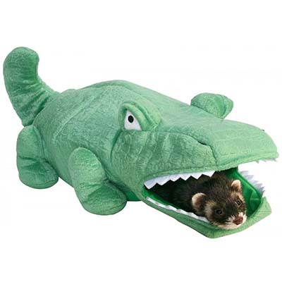 Marshall Plush Alligator Hide-N-Sleep Ferret Toy