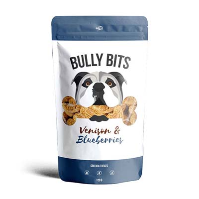 Miss Envy Bully Bites Hemp Infused Venison and Blueberry Dog Treats