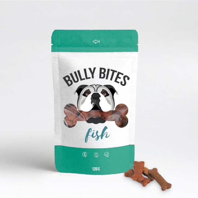 Miss Envy Bully Bites Hemp Infused Wild Salmon Dog Treats