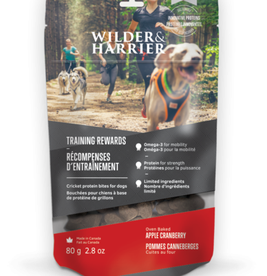 Buy Wilder Harrier Apple Cranberry Cricket Biscuits online in Canada from Canadian Pet Connection