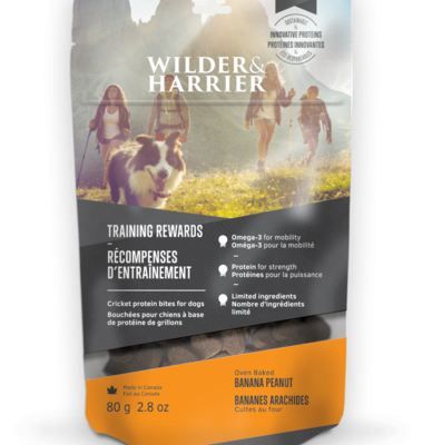 Buy Wilder Harrier Banana Peanut Cricket Biscuits online in Canada from Canadian Pet Connection