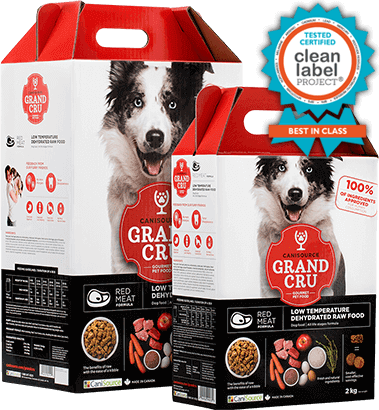 Buy Canisource Grand Cru Red Meat Dehydrated Dog Food online in Canada red box