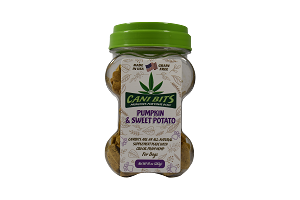 Buy Cani Bits Pumpkin and Sweet Potato Hemp Oil Dog Treats online in Canada from Canadian Pet Connection