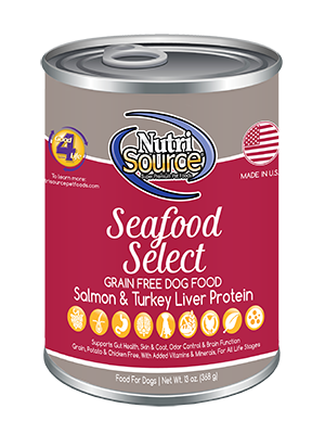 Buy NutriSource Seafood Select online in Canada red can