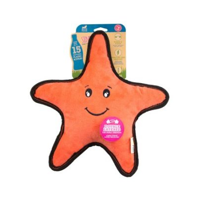 recycled starfish dog toy