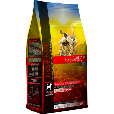 Essence air and gamefowl dry dog food available in Canada