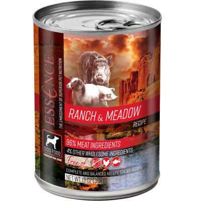 essence canned dog food ranch and meadow pork and lamb canada