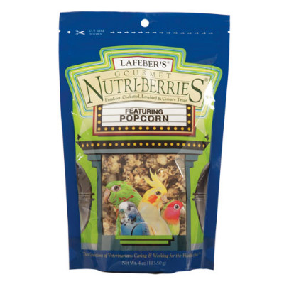 buy Lafebers Gourmet Popcorn Nutri-Berries For Parakeets, Cockatiels, Lovebirds, And Conures