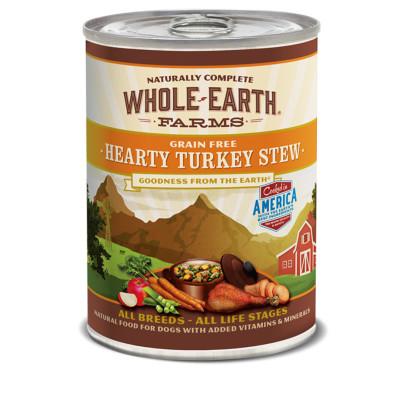buy whole-earth-farms-turkey-stew-canned-dog-food