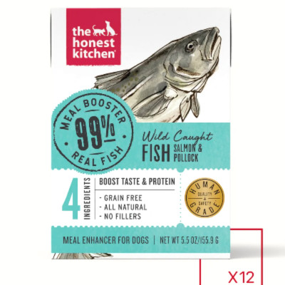buy The Honest Kitchen 99% Meat Protein Booster Salmon Wet Food Toppers For Dogs