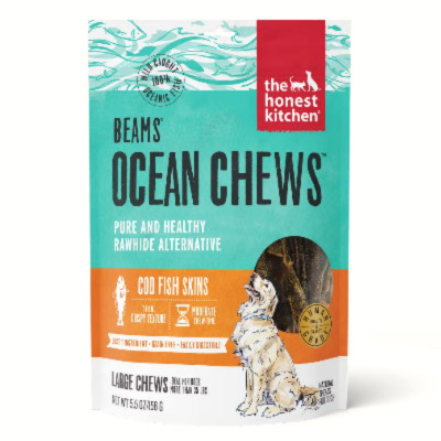 "buy The Honest Kitchen Grain-Free ""Beams Cod"" Treats Fish Skin Dental Chews For Dogs"