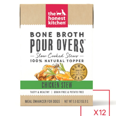 buy The Honest Kitchen Pour-Overs Bone Broth And Chicken Stew Food Toppers For Dogs