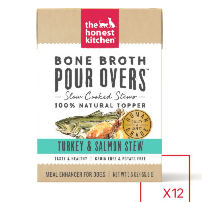 buy The Honest Kitchen Pour-Overs Bone Broth Turkey And Salmon Stew Food Toppers For Dogs