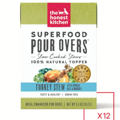 buy The Honest Kitchen Pour-Overs Superfood And Turkey With Spinach Stew Food Toppers For Dogs
