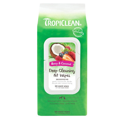 Buy Tropiclean Deep Cleaning Deodorizing Wipes
