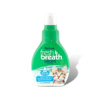 Buy Tropiclean Fresh Breath Oral Care Drops for Cats