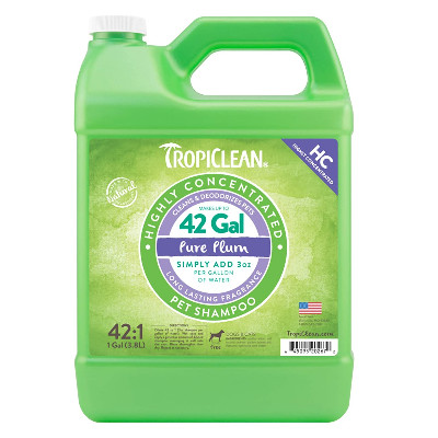 Buy Tropiclean Highly Concentrated Pure Plum Pet Shampoo
