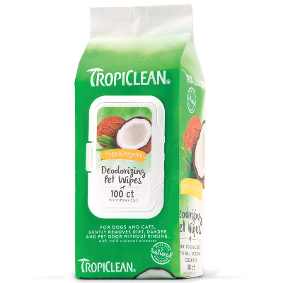 BuyTropiclean Hypo Allergenic Deodorizing Wipes