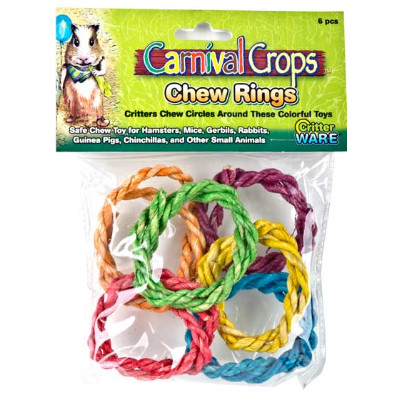 buy Ware-Carnival-Crops-Colourful-Chew-Ring-6-Pieces-For-Small-Animals