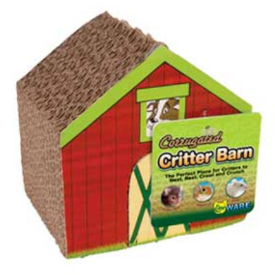 buy Ware Corrugated Chews and Hideouts Critter Barn For Small Animals