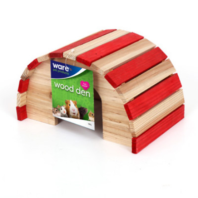 buy Ware-Feeders-Wood-Den-Large-Red-and-White-For-Small-Animals