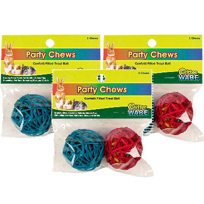 buy Ware Party Chews Balls 2 Pieces For Small Animals
