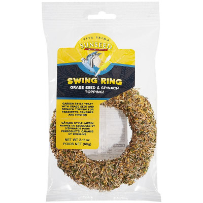 buy sunseed-vita-prima-swing-ring-grass-seed-and-spinach-for-birds