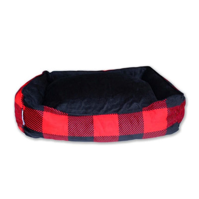 buy Be One Breed Buffalo Plaid Cozy Bed For Pets