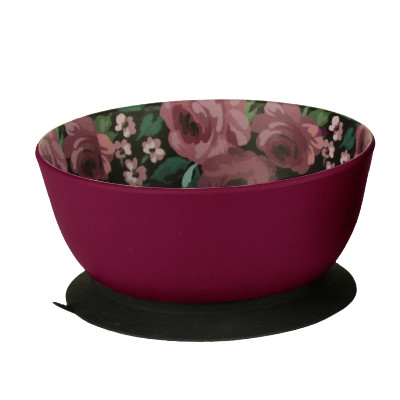 buy Be-One-Breed-Dark-Floral-Eco-Bowl-Pet-Dish