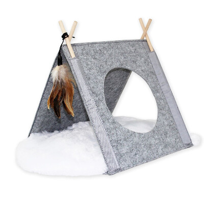 buy Be-One-Breed-Felt-Tipi-With-Cushion-For-Cats
