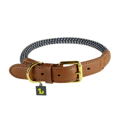 buy Be-One-Breed-Rope-Collar-Classy-Gray-For-Cats