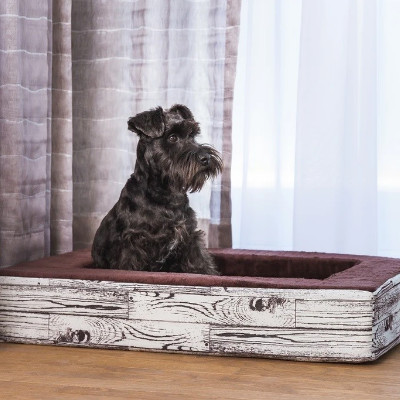 buy Be One Breed Wood Contour Bed For Dogs