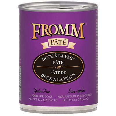 buy fromm-grain-free-duck-a-la-veg-pate-dog-food