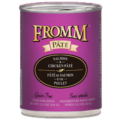 buy fromm-grain-free-salmon-and-chicken-pate-dog-food