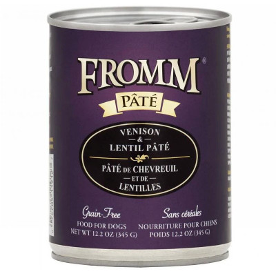 buy fromm-grain-free-venison-and-lentil-pate-dog-food