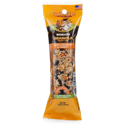 buy sunseed-vita-prima-grainola-treat-bar-with-coconut-and-carrot-for-small-animals