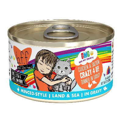 buy BFF-OMG-Crazy-4-U-Chicken-Salmon-Dinner-in-Gravy-Grain-Free-Cat-Food