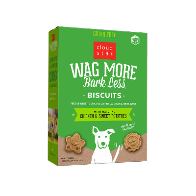 buy Cloud-Star-Wag-More-Bark-Less-Grain-Free-Oven-Baked-Biscuits-Chicken-And-Sweet-Potatoes-For-Dogs