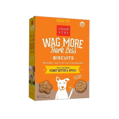 buy Cloud-Star-Wag-More-Bark-Less-Grain-Free-Oven-Baked-Biscuits-Peanut-Butter-And-Apple-For-Dogs-Box