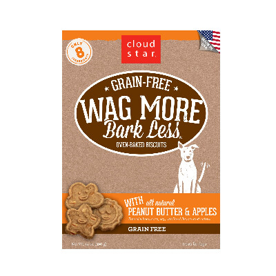 buy Cloud-Star-Wag-More-Bark-Less-Grain-Free-Oven-Baked-Biscuits-Peanut-Butter-For-Dogs