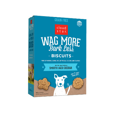 buy Cloud-Star-Wag-More-Bark-Less-Grain-Free-Oven-Baked-Biscuits-Smooth-Aged-Cheddar-For-Dogs-Box