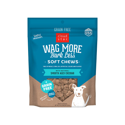 buy Cloud-Star-Wag-More-Bark-Less-Soft-And-Chewy-Grain-Free-Treats-Smooth-Aged-Cheddar-For-Dogs
