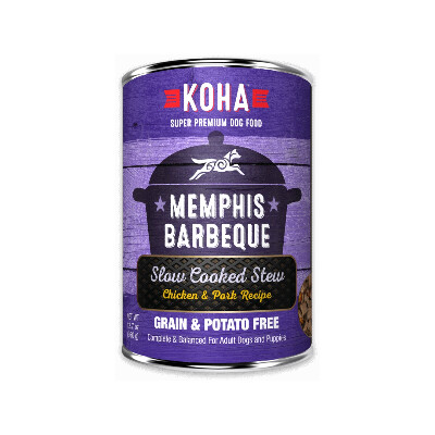 buy Koha-Memphis-Barbeque-Slow-Cooked-Stew-Chicken-And-Pork-For-Dogs
